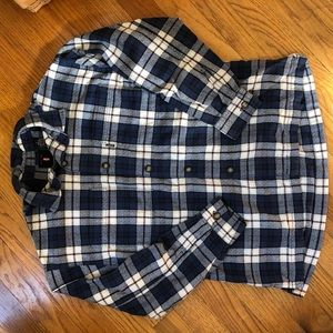 Levi's Flannel Plaid Button Down 3/4 Sleeve